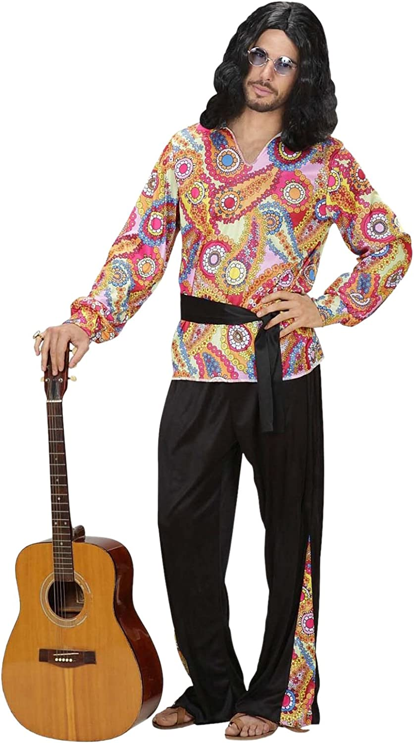 Hippie Dude Costume Extra Large for 60s 70s Hippy Fancy Dress