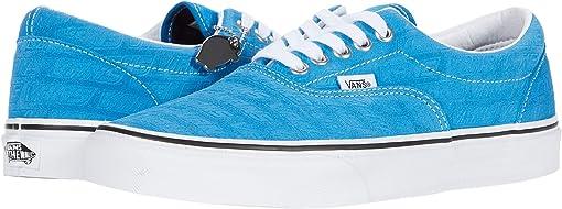 (Vans Emboss) Mediterranian Blue/True White
