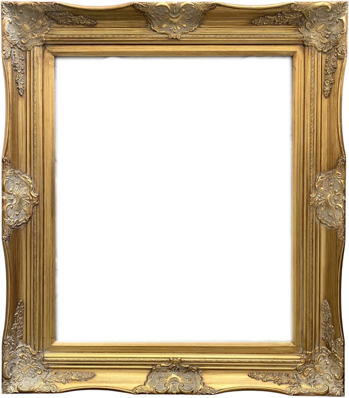 West Frames Georgiana Manufacturer direct delivery Ornate Antique Baroq Detroit Mall Wood French Leaf Gold