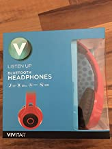 Vivitar Listen Up Bluetooth Over Ear Headphones (Red)