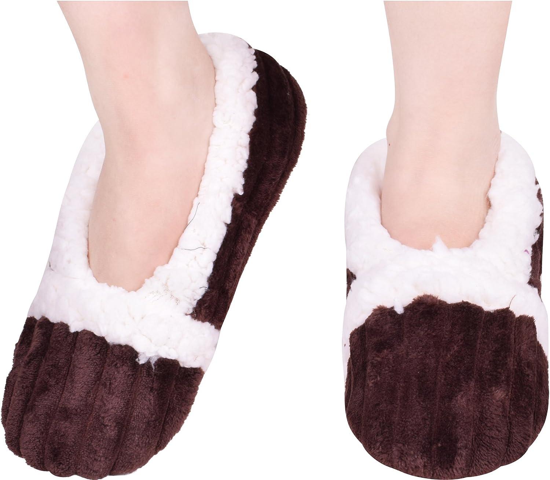 BODY STRENTH Womens Slippers Non-Slip Fleece Lining Winter Warm