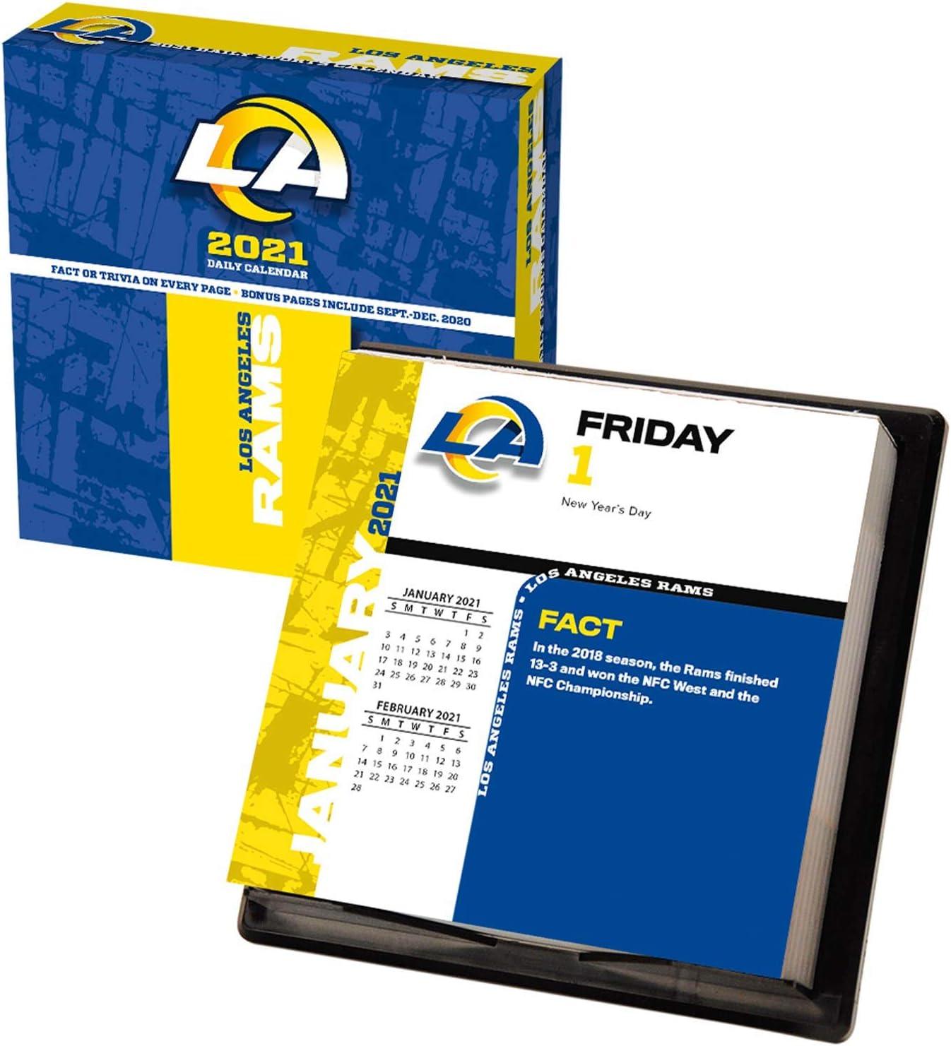 Turner Licensing Los Award Angeles Rams wholesale 2021 Box Calendar