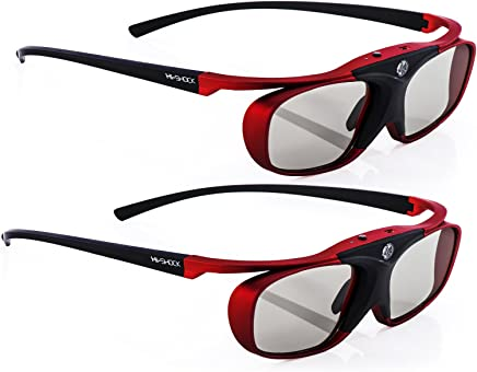2X EPSON Compatible 3D Active Glasses RF Pro Scarlet Heaven   for 3D Projector Epson Home Cinema 750HD 2000 2030 2040 3000 3020 3500 3600 4030 5020 5030 6010 6020 6030 incl. Hardcase