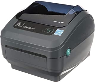 Zebra GX420d Direct Thermal Desktop Printer Print Width of 4 in USB Serial and Ethernet Port Connectivity Includes Peeler GX42-202411-000