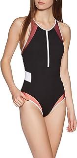 Womens Essentials Block 1 Piece Surf Suit - Black