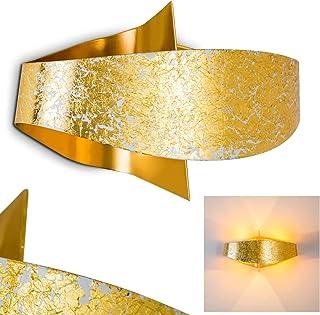 Appliques murales Padua en métal aux finitions dorée, élégant luminaire pour 2 ampoules G9 max. 33 Watt, compatible ampoul...