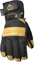 Men's Waterproof Winter Gloves with Leather Palm, Extra Large (Wells Lamont 7660XL)