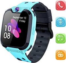 Kids Smart Watch for Boys Girls - HD Touch Screen Sports Smartwatch Phone with Call Camera Games Recorder Alarm Music Player for Children Teen Students Age 3-12 (X9-Blue)