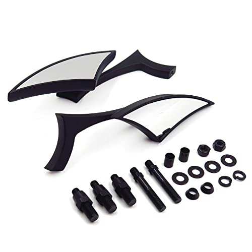 Black Blade Mini Mirror For Honda Rebel Shadow 600 750 Vtx 1300 1800 Spirit 1100