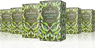 Pukka Herbs Organic Mint Matcha Green Tea, 20 individually wrapped tea bags, 6 Count
