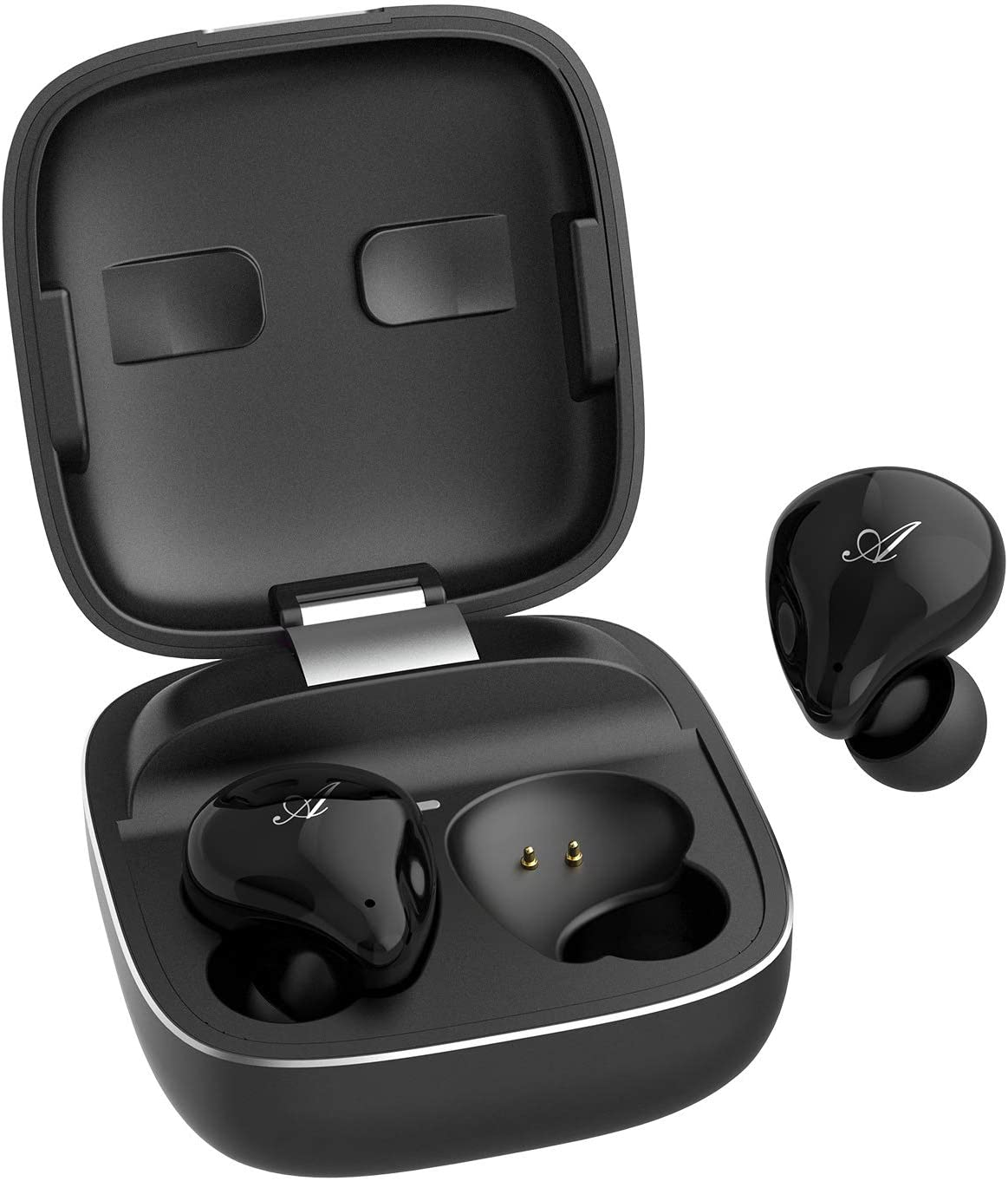 Wireless Earbuds DOSS FreePods Bluetooth 5.0 Premium Deep Bass Touch Control True Wireless Earbuds IPX5 Waterproof 30 Hours Playtime with Aluminum Charging Dual Digital Mics for Call,Work,Home Office