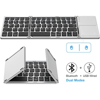 Color : Yellow Mobile Phone Flat Silicone Keyboard Jiabei Portable Folding Bluetooth Keyboard
