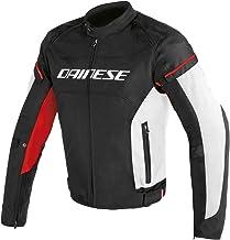 DAINESE ORIGINAL D-FRAME TEX MOTORBIKE/MOTORCYCLE JACKET BLACK & RED 201735191-7 (48)