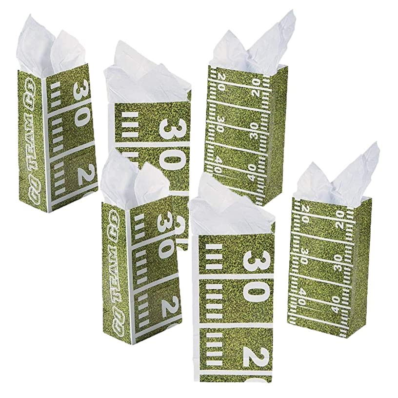 Two Dozens of Football Field Treat Bags - Party Supplies