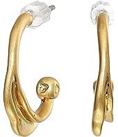 Organic Metal Mini Hoops Earrings