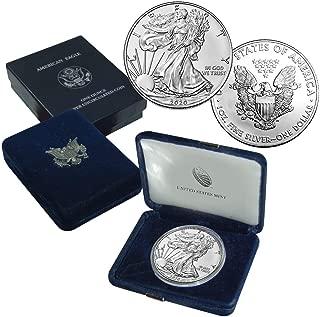 2020 American Silver Eagle $1 Brilliant Uncirculated US Mint Box