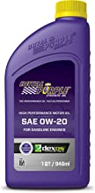 Royal Purple 01020 0W20 Oil, 1 quart