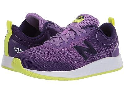 New Balance Kids Fresh Foam Arishi v3 (Little Kid/Big Kid) (Neo Violet/Black Plum) Girls Shoes