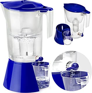 DRIKMAN Universal Water Filter Pitcher - Water Purifier Pitcher - Water Pitcher with Filter - Filtered Water Dispenser with Stand - 1 Gallon Pitcher - Filtered Water Pitchers