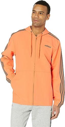 Essentials 3-Stripe Woven Hoodie
