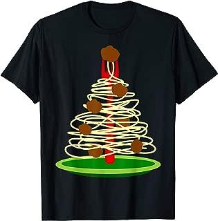 Italy Spaghetti Meatballs Christmas T-Shirt