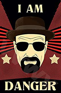 VVWV Danger Breaking Bad Red Wall Art Poster 300 GSM Office Bedroom Poster Stylish Big Size Boys Home Decoration Photograp...