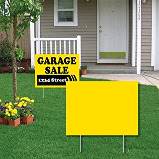 "VictoryStore Outdoor Yard Sign Blanks - Corrugated Plastic 4MM Yellow Sign Blanks - 18H""x24W"" BNDL/25"