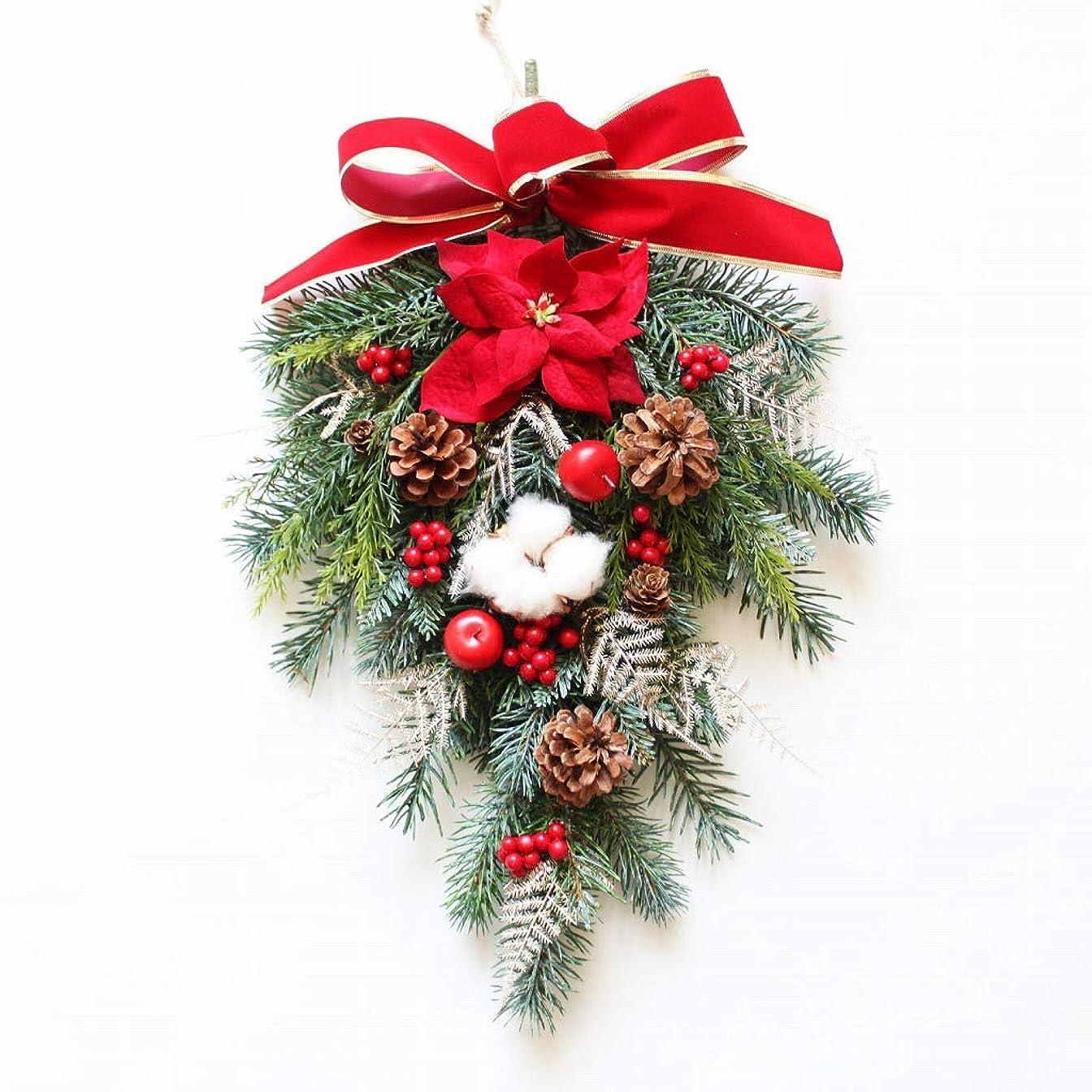 ワックス蒸発するヘッドレスグランドグルー クリスマスリース クリスマス飾り クリスマス玄関飾り スワッグ 造花 アーティフィッシャルフラワー 玄関飾り 壁掛け