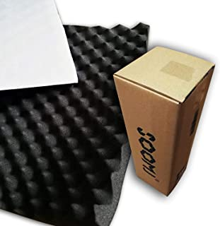 SOOMJ 20mmThick self-Adhesive Sound Proof Padding Soundproofing Foam Acoustic Eggcrate Design Car Heatproof Foam Deadener