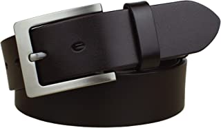 Bullko Men's Casual Jean Belt Classic Buckle Top Leather Belts 1.5