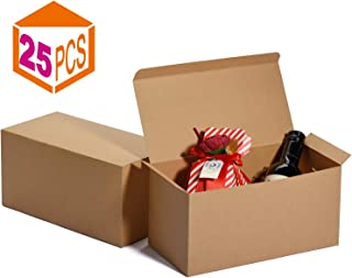 MESHA Groomsmen Gift Boxes 9x4.5x4.5 Inch Gift Boxes Bulk Gift Boxes with Lids Brown Kraft Paper Boxes Easy Assemble Boxes for Wrapping Gifts (Brown-25Pcs)