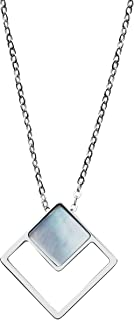 Women's Agnethe Silver-Tone Mother-of-Pearl Square...