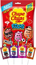 Chupa Chups Faces Bag, 35 Lollipops, Fun Small Treats, 210 g