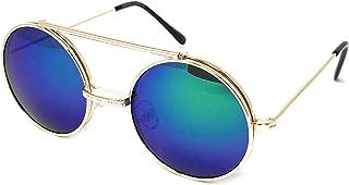 Flip Up Steampunk Metal Django Sunglasses