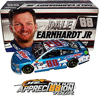 AUTOGRAPHED 2017 Dale Earnhardt Jr. #88 Mountain DEW-S-A (Patriotic) RETIREMENT FINAL SEASON Monster Energy Cup Series Signed Lionel 1/24 NASCAR Diecast Car with COA (#1104 of only 2,005 produced!)