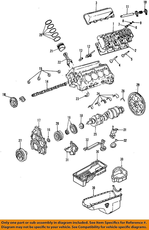 General Motors Special Campaign 12638805 Reservation Intake Valve Engine