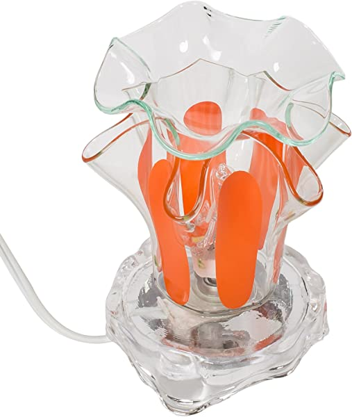 Orange 3 X 4 Glass Electric Wall Plug In Oil Burner With Dimmer Switch