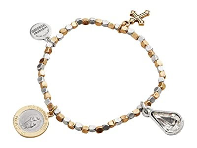 Alex and Ani Wisdom Multi Charm Stretch Bracelet (Gold) Bracelet