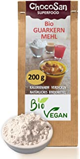 Guarkernmehl Bio  guar gum low carb Mehl  glutenfrei  Ei Ersatz  vegan  Backen & Kochen  pflanzliches Bindemittel Andickungsmittel Verdickungsmittel Saucenbinder  200g