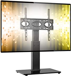 5Rcom Universal Swivel Tabletop TV Stand with Mount for 37 40 42 47 50 55 60 65 70 inch Flat or Curved Screen TVs with Tem...