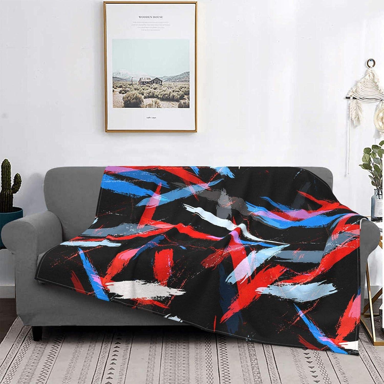 Watercolor Stripes Ultra-Soft Micro Ligh Flannel Ranking TOP15 overseas Blanket Fleece