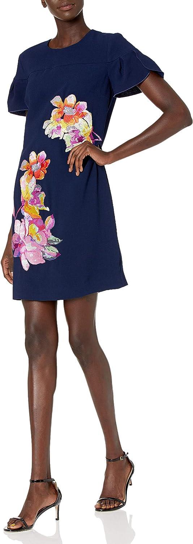 Trina Turk service Women's Jacinta 2 Petal Sleeve Embroidered 5 ☆ very popular Shift Dres