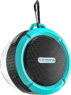 مكبر صوت بلوتوث محمول ومدمج مع ميكروفوت من ايبيوس مقاوم للماء ووقت تشغيل 6 ساعات وصوت HD عالي، مكبر صوت للحمام مع كوب شفط ...