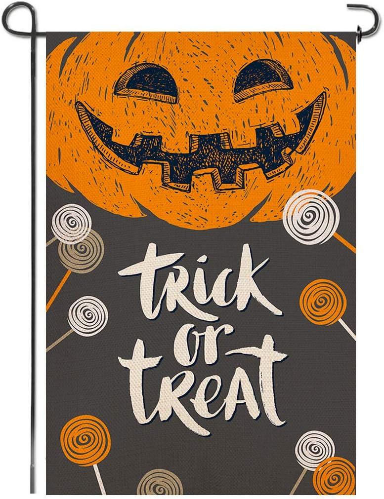 Shmbada Minneapolis Mall Trick or Treat Happy Garden Halloween Burlap Premi Direct store Flag