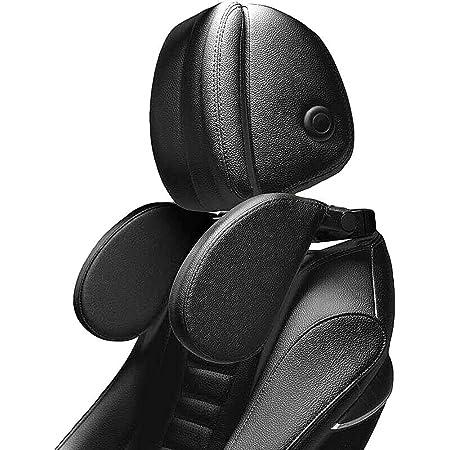 Kopfstütze Auto Kinder Xrexs Nackenkissen Auto Breite Und Höhe Einstellbar Pu Leder Mit Weichem Gedächtnisschaum Für Kinder Und Erwachsene Nackenstütze Auto Baby