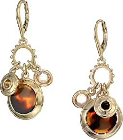 Rose Shaky Charm Drop Earrings