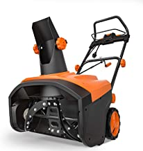 TACKLIFE Electric Snow Blower, 15Amp Snow Thrower, 20 INCH Width Steal Auger, Overload Protection, for Snow Cleaning, GST01