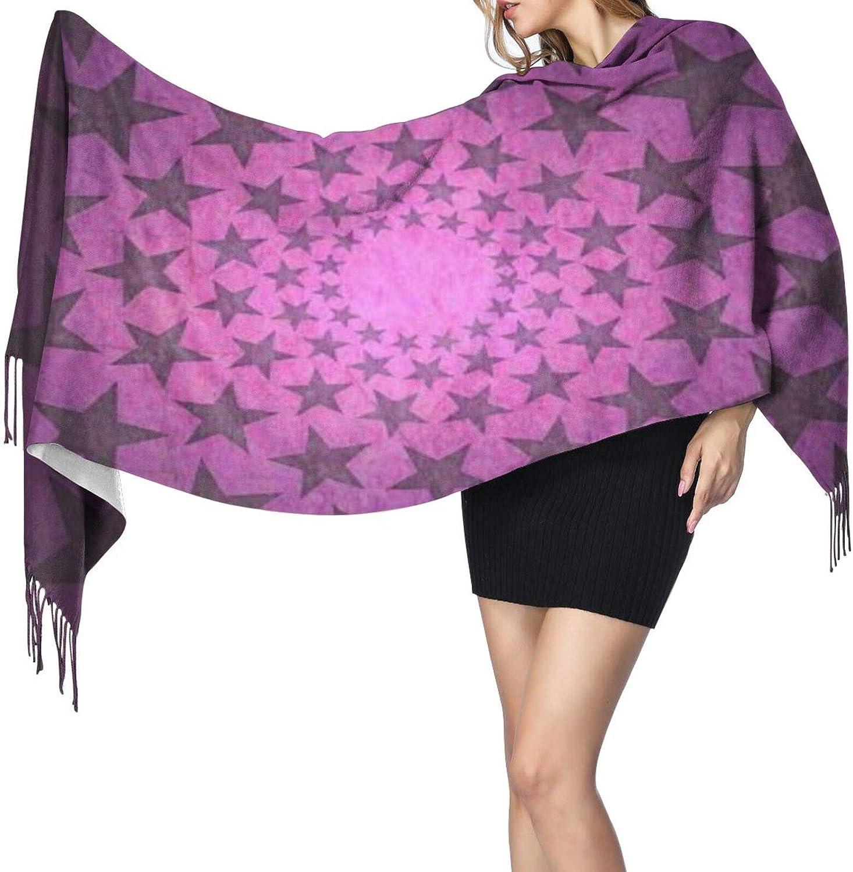 Cashmere fringed scarf stars stars winter extra large scarf