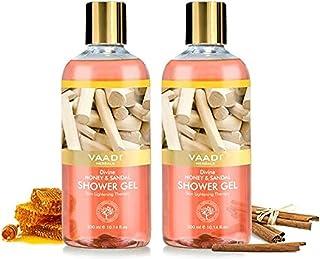 Shower Gel - Sulfate-Free - Herbal Body Wash both for Men and Women - 300 ml (10.14 fl oz) - Vaadi Herbals (Divine Honey &...