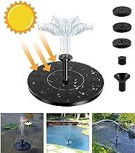 Fuente Solar,Bomba de Agua para Jardín con Bomba de Estanque Solar con Fuente de Panel Solar Monocristalino de 1.4 W, Decoración Flotante para Jardín, Estanque Pequeño, Baño para Pájaros, Pecera